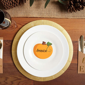 Thanksgiving Table Place Cards, Pumpkin Cutouts (50 Count)