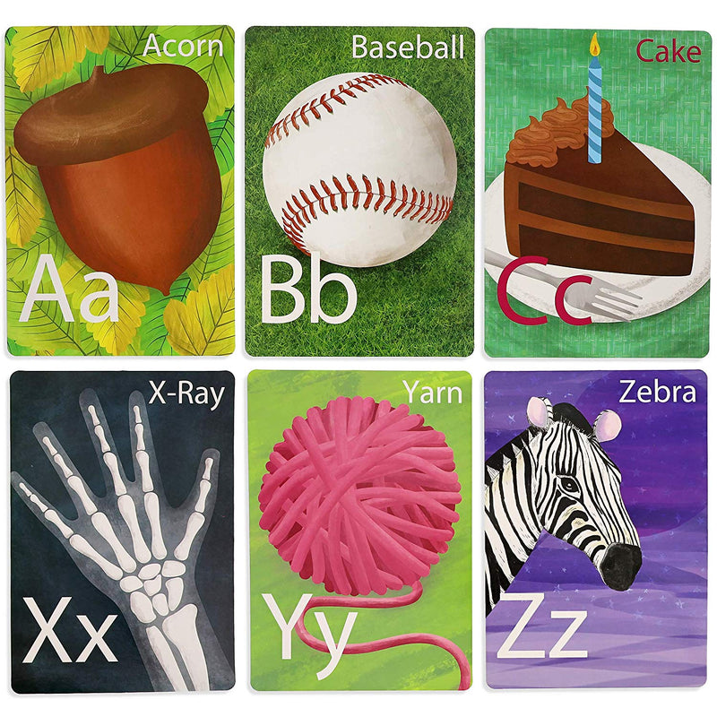 Paper Junkie 26-Count Alphabet Letter Bulletin Board Poster Cards, 6 x 8 Inches