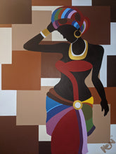 "Load image into Gallery viewer, ""Queen of Culture"" 36 x 48in. Original Painting"