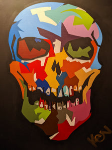 """Creative Cranium"" 24 x 30in. Original Painting"