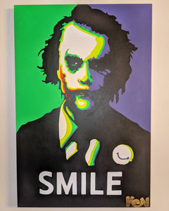 """The Datk Smile"" 24x36in. Original Painting"