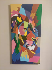 """ Leo"" 24 x 48in. Original Painting"