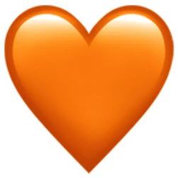 emoji coeur orange