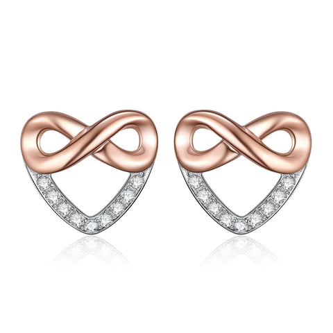 Boucle d'Oreille Infini Or Rose