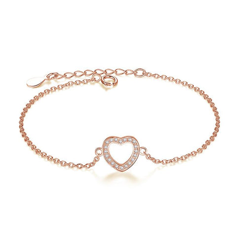 Bracelet Or Rose Coeur