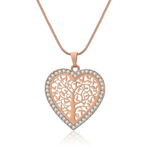 Collier Arbre de Vie Or Rose