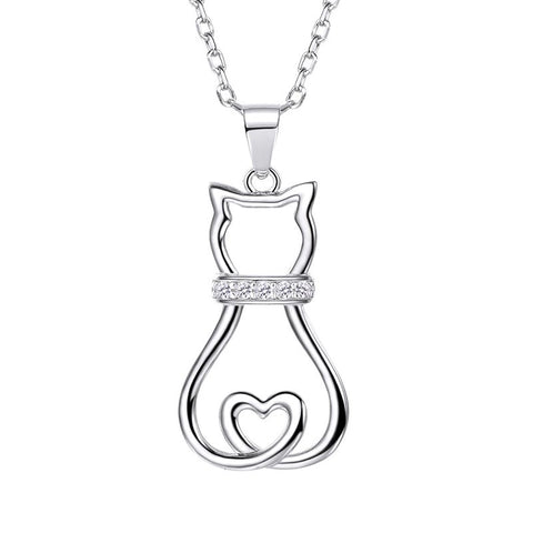 Collier Chat Coeur
