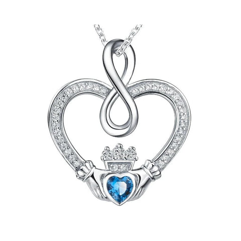 collier coeur claddagh