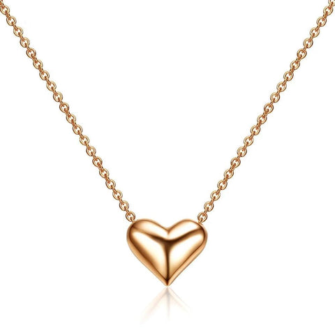 Collier Coeur en Or Brillant