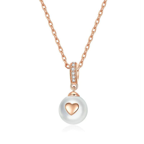Collier Coeur Perle