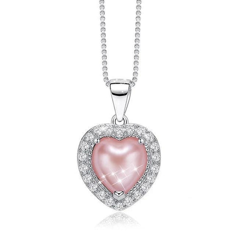 Collier Coeur Rose