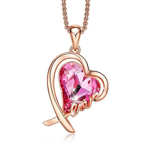 Collier Coeur Rose Love