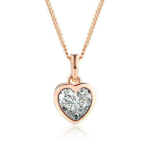 Collier Coeur Transparent