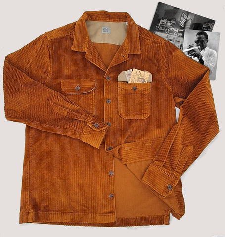 "Golden Brown Corduroy ""Miles Davis"" Overshirt"