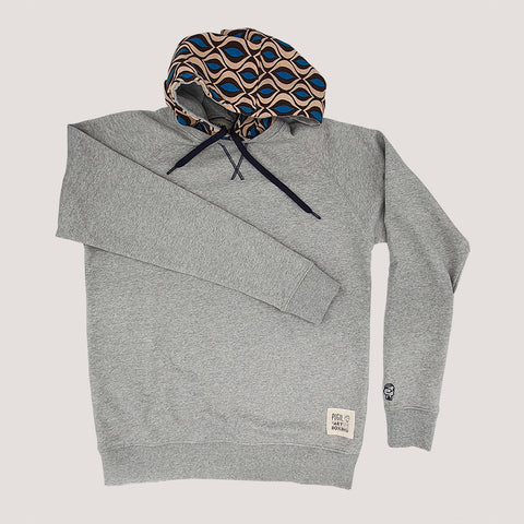 """Art Of Boxing"" Gray Sweatshirt with Reversible Hood"