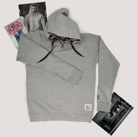 """Art Of Boxing"" Gray Sweatshirt with Hood"