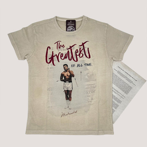 Camiseta oficial Muhammad Ali, The Greatest of all time
