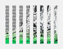 Load image into Gallery viewer, Claudia Comte | »They're at the End of the World (curve/jungle cocktail painting in green) «
