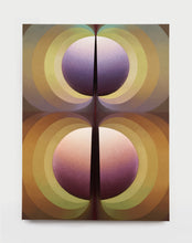 Load image into Gallery viewer, LOIE HOLLOWELL - Split Orbs in Brown, Green, Crimson and Purple, 2021