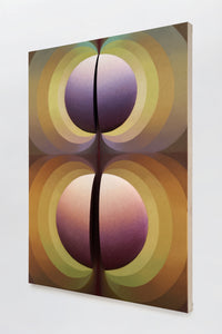 LOIE HOLLOWELL - Split Orbs in Brown, Green, Crimson and Purple, 2021
