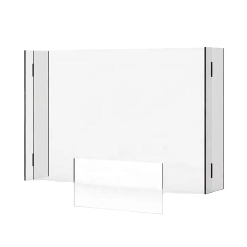 Clear Protective Countertop Acrylic Shield - 3-Sided Panels