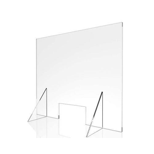 Clear Protective Countertop Acrylic Shield - Single Panel