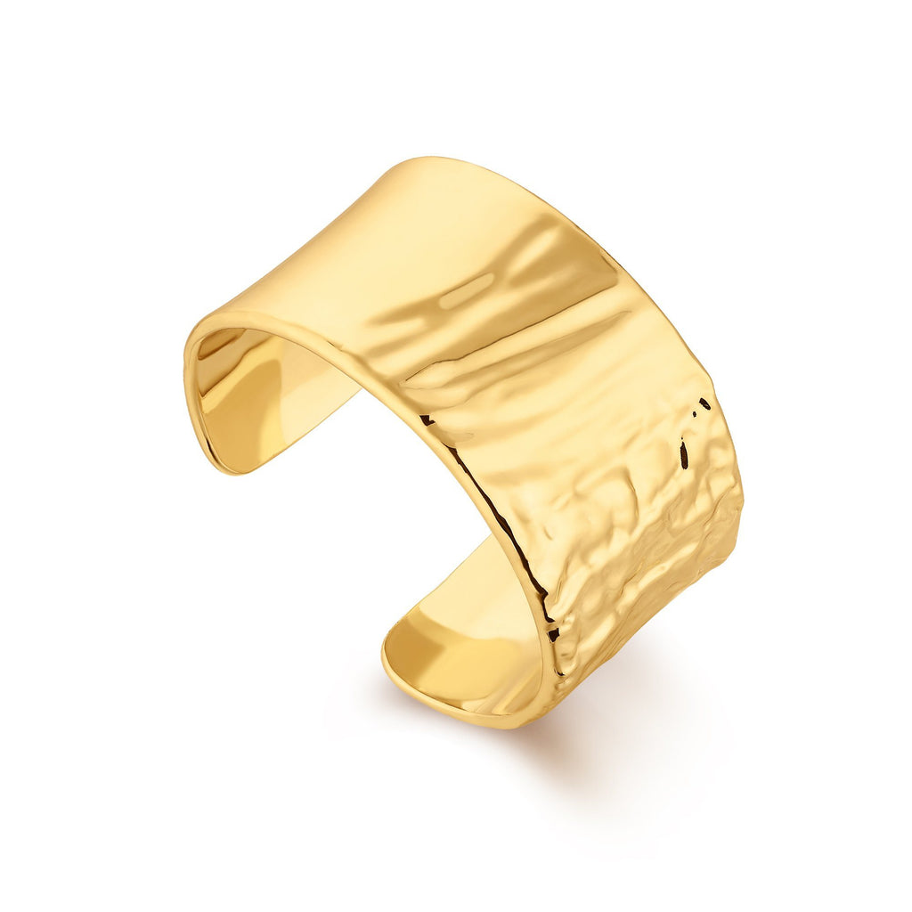 Gold Wide Cuff with Smooth Texture