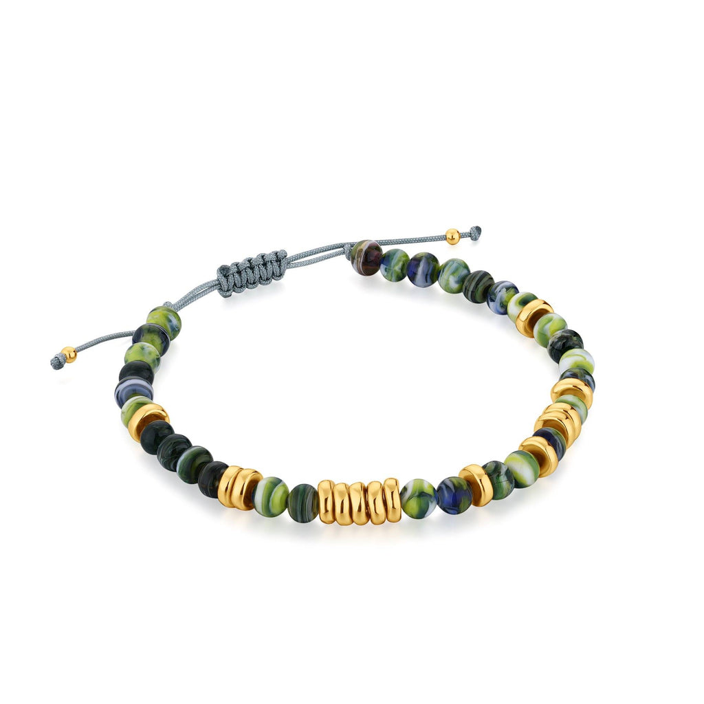 Green Murano Glass Beaded Bracelet