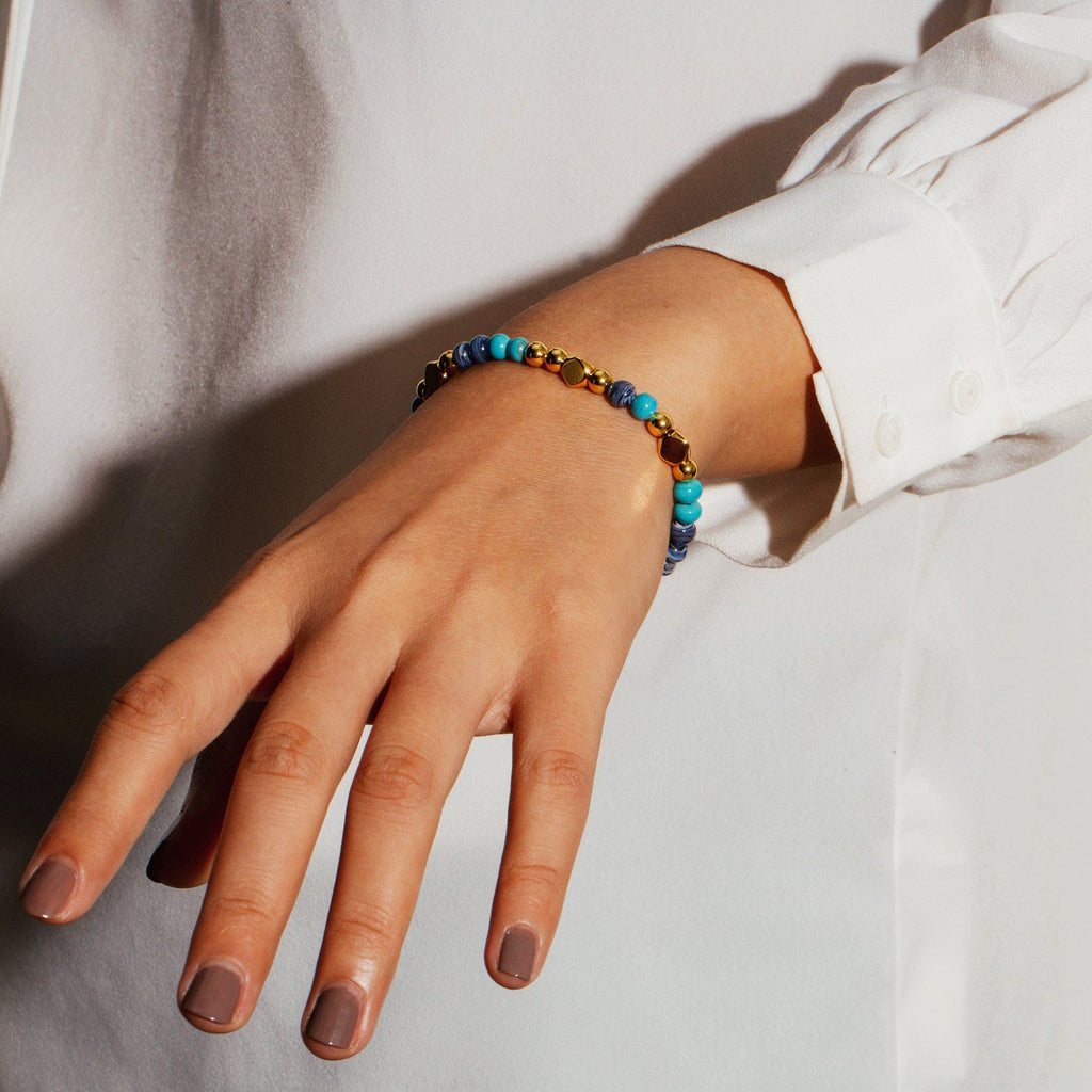 EDEN | Blue Murano Glass Beaded Bracelet