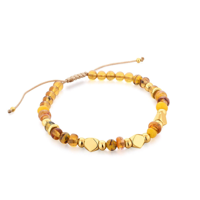 Honey Gold Murano Glass Gold Bracelet