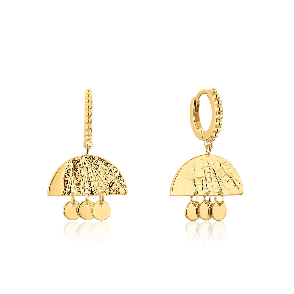 3-Tier Dangles with Ancient Inspired Etching