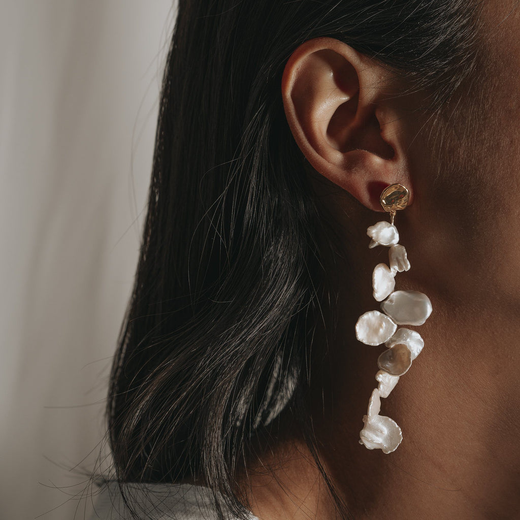 stylish post-back dangling earrings