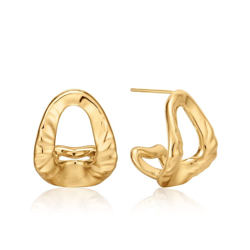 ADAGIO | Curved Open Oval Earrings