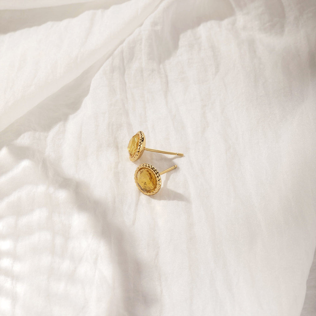 FEISTY | Bezel Citrine Studs