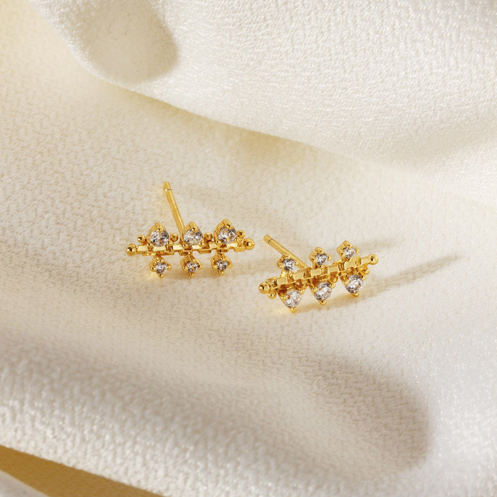 ELEGANTE | Zircon Climber Stud Earrings