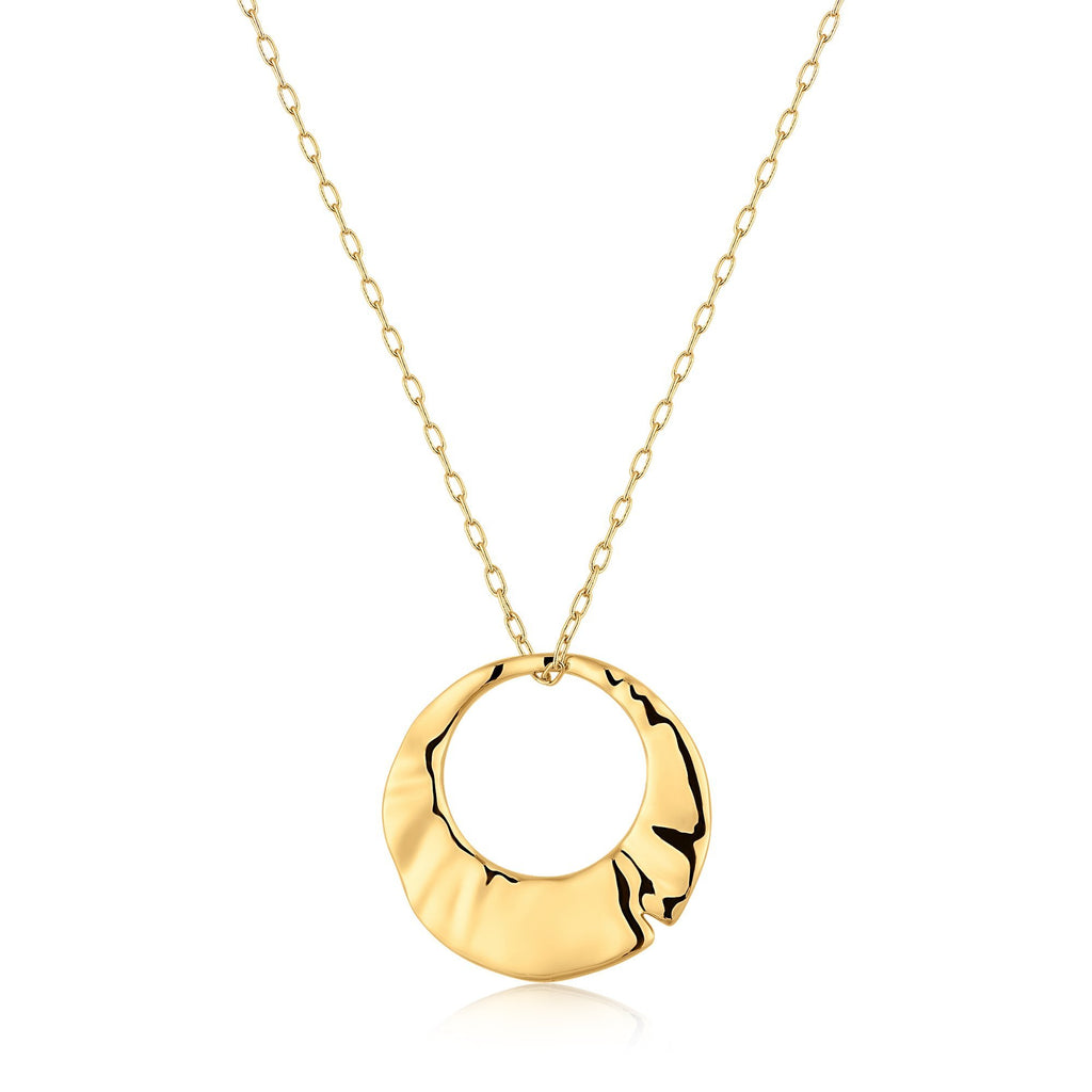 Open Circle Gold Pendant