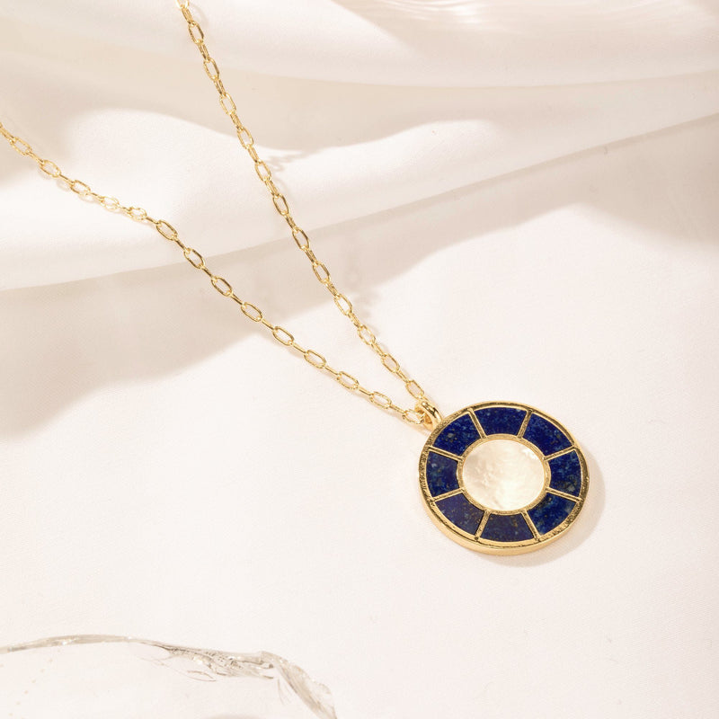 SAGACITY | Lapis and Mother of Pearl Pendant