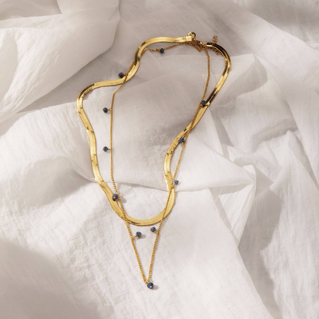 LITHE | Thick & Thin Double Chain Necklace