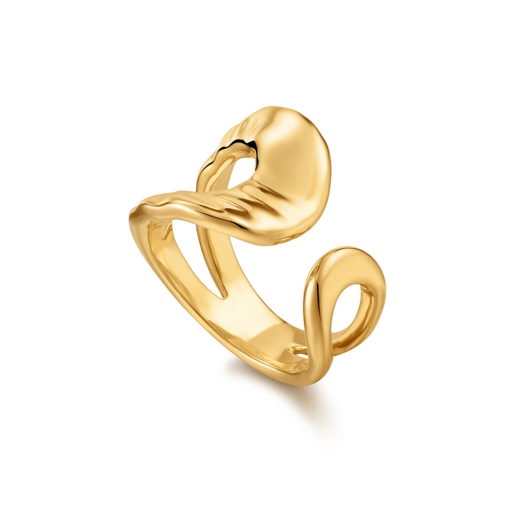 Open Front Cutout Gold Ring