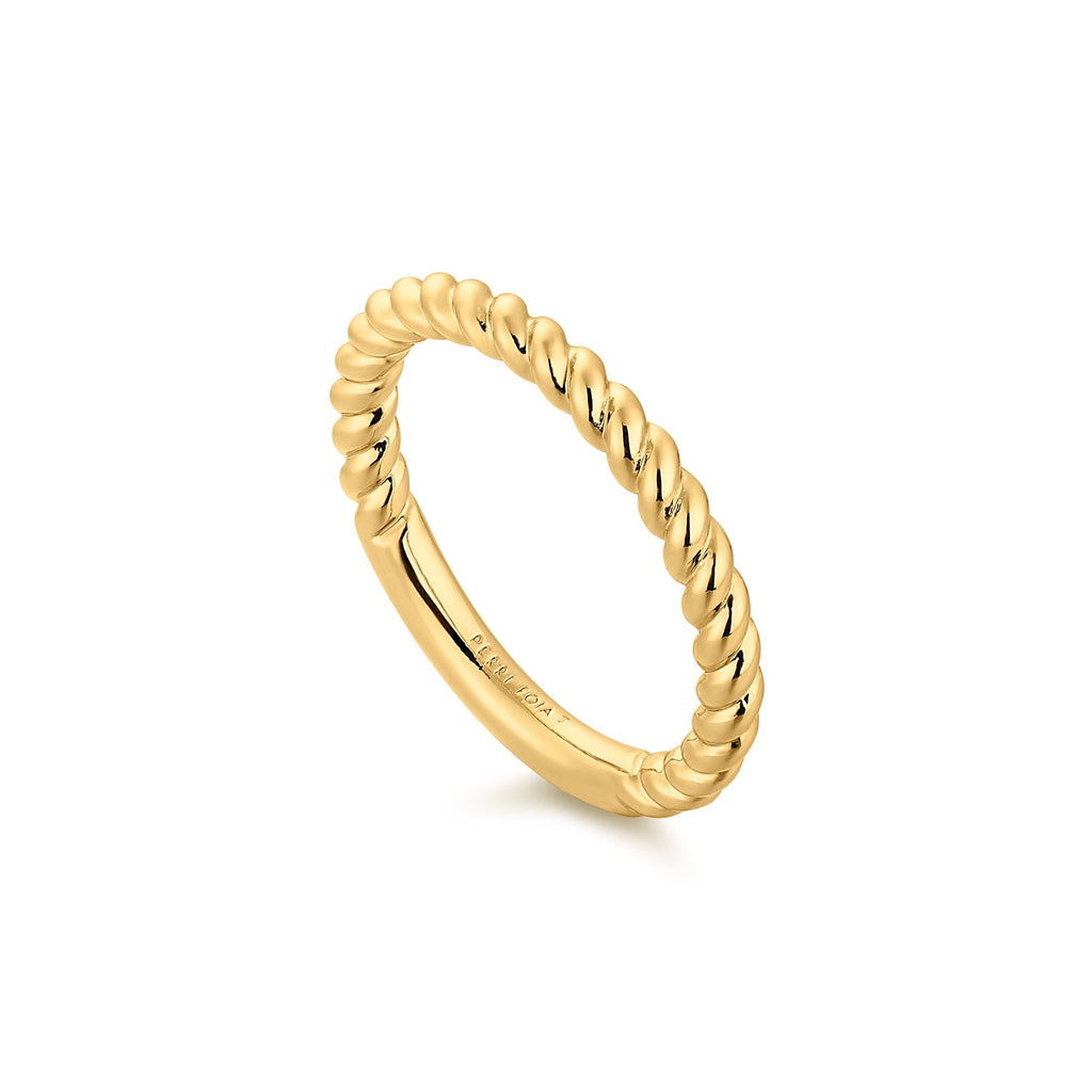 Twisted Rope Gold Band