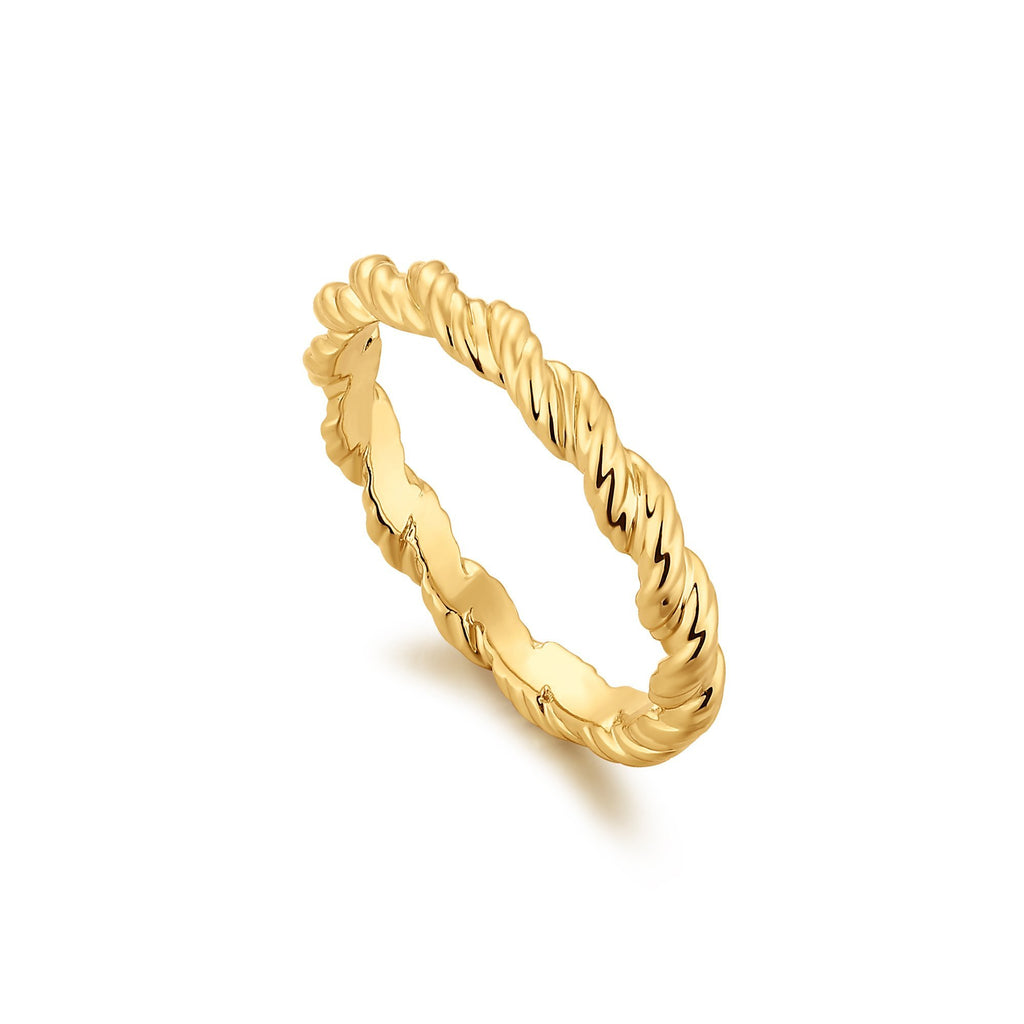 Hurricane Twist Gold Ring