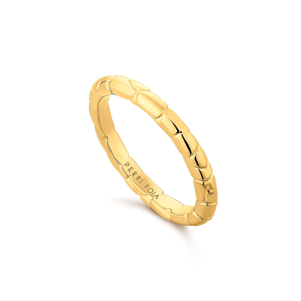 Textured Narrow Gold Bangle