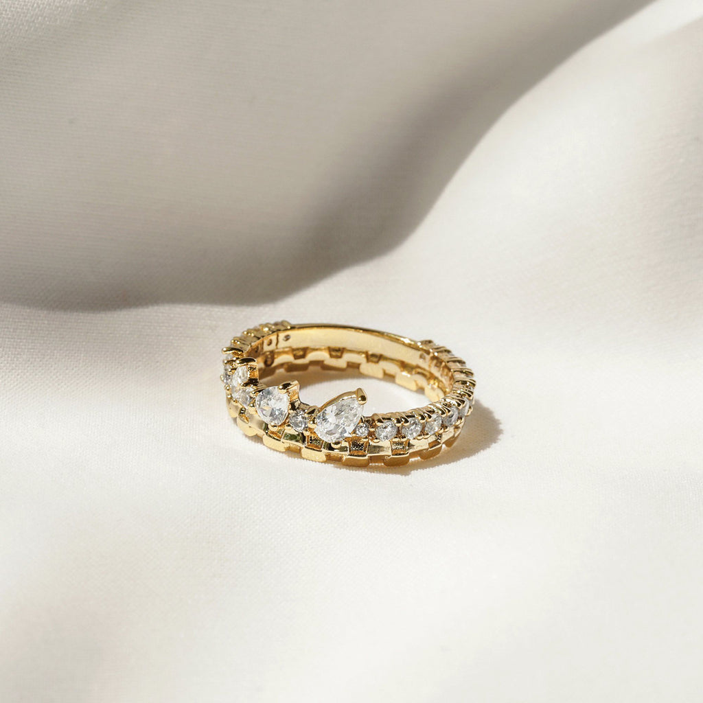 18K Yellow Gold Plated Brass ring