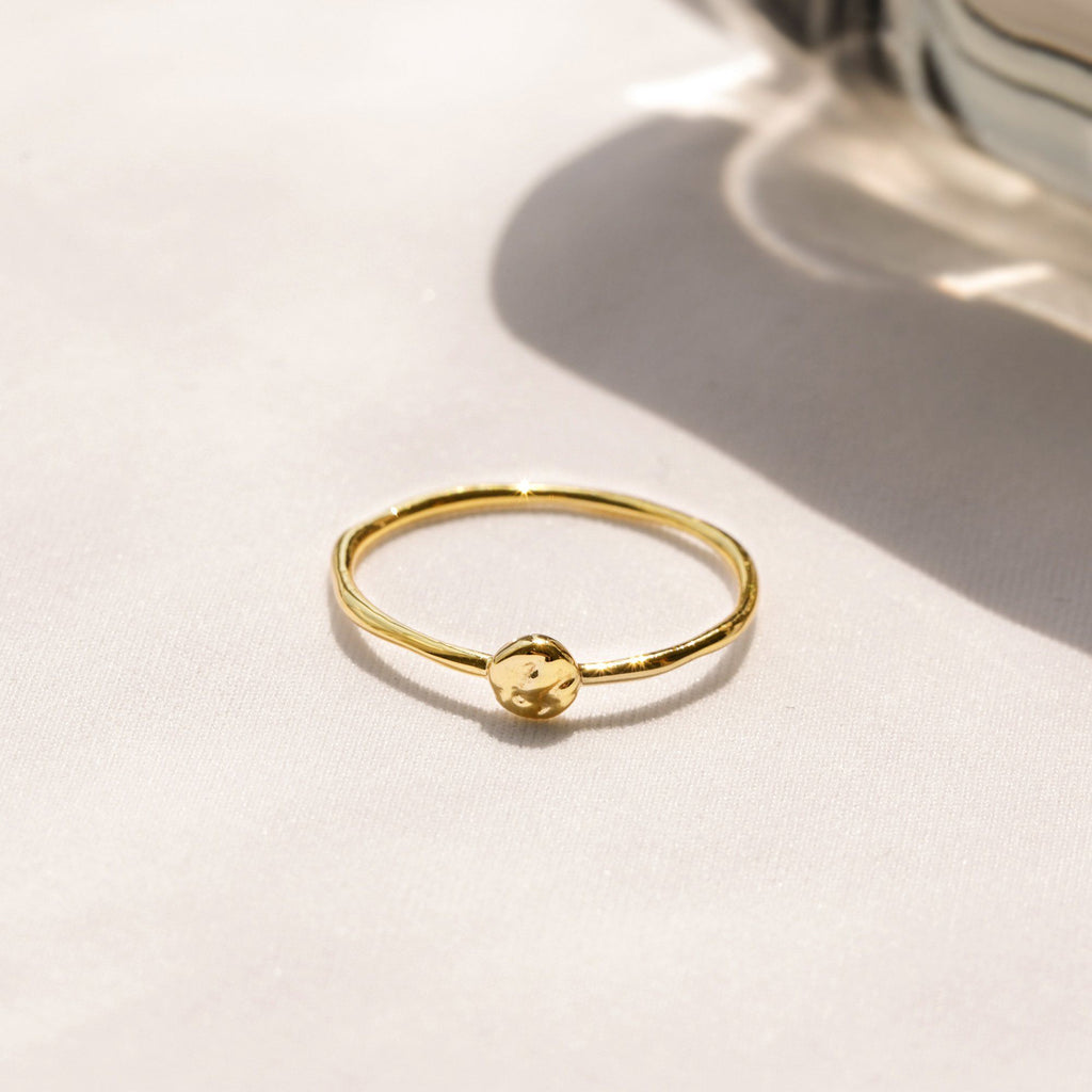 single small textured disk ring