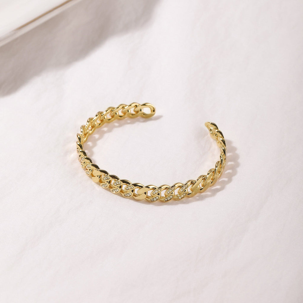 18K Yellow Gold Plated Brass cuff