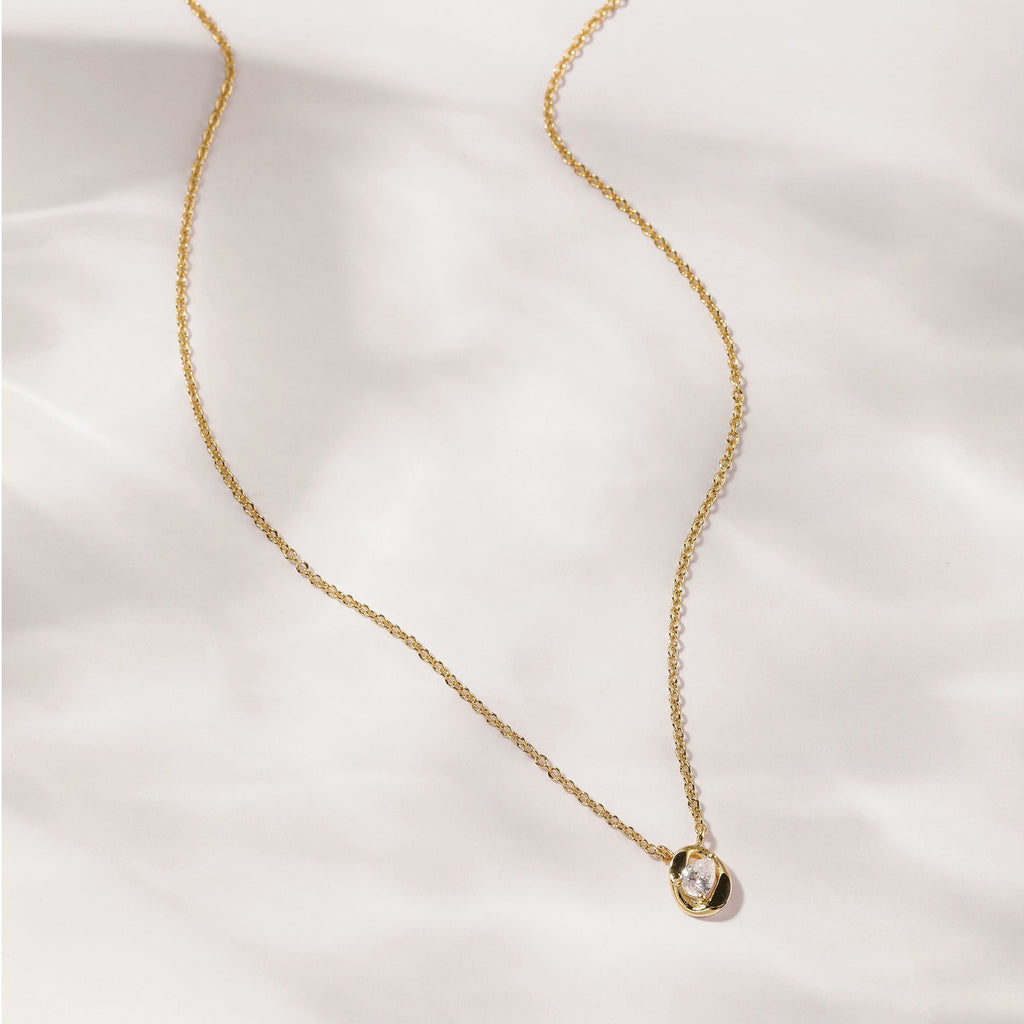 18K Yellow Gold Plated Brass necklace