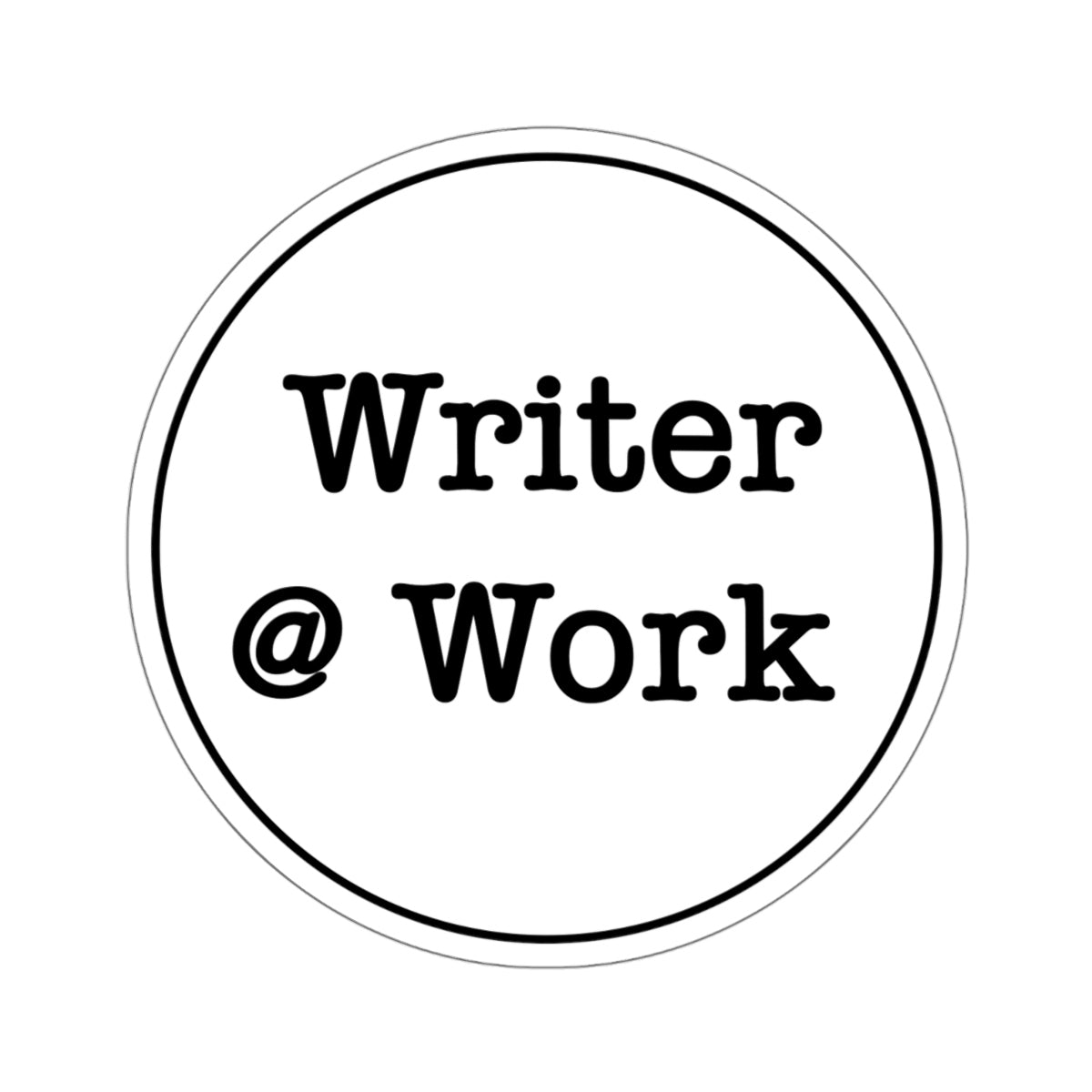 Writer @ Work Sticker