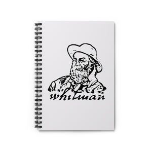 Walt Whitman Spiral Ruled Journal