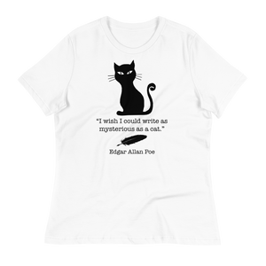 Poe Black Cat Women's Relaxed Tee
