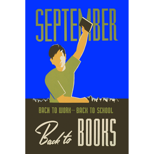 September Back to Books WPA Poster